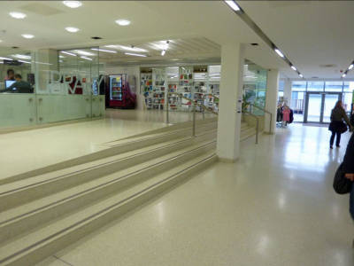 Seamless Resin Terrazzo - Education Sector - Mondeco Crystal Ice